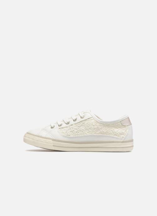 Baskets Mustang shoes Smith Blanc vue face