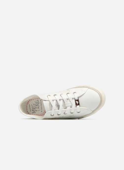 Baskets Mustang shoes Smith Blanc vue gauche