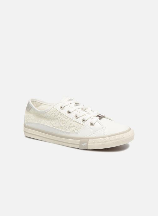 Baskets Mustang shoes Smith Blanc vue détail/paire