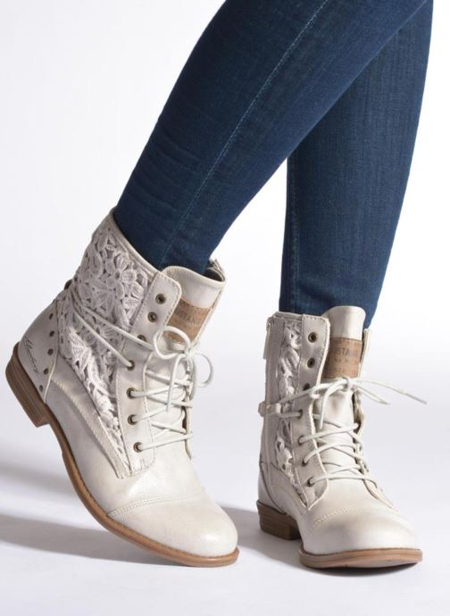 Ankle boots Mustang shoes Freeze Grey view from underneath / model view