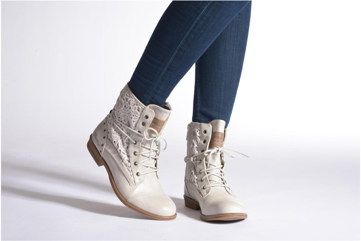 Bottines et boots Mustang shoes Freeze Gris vue bas / vue portée sac