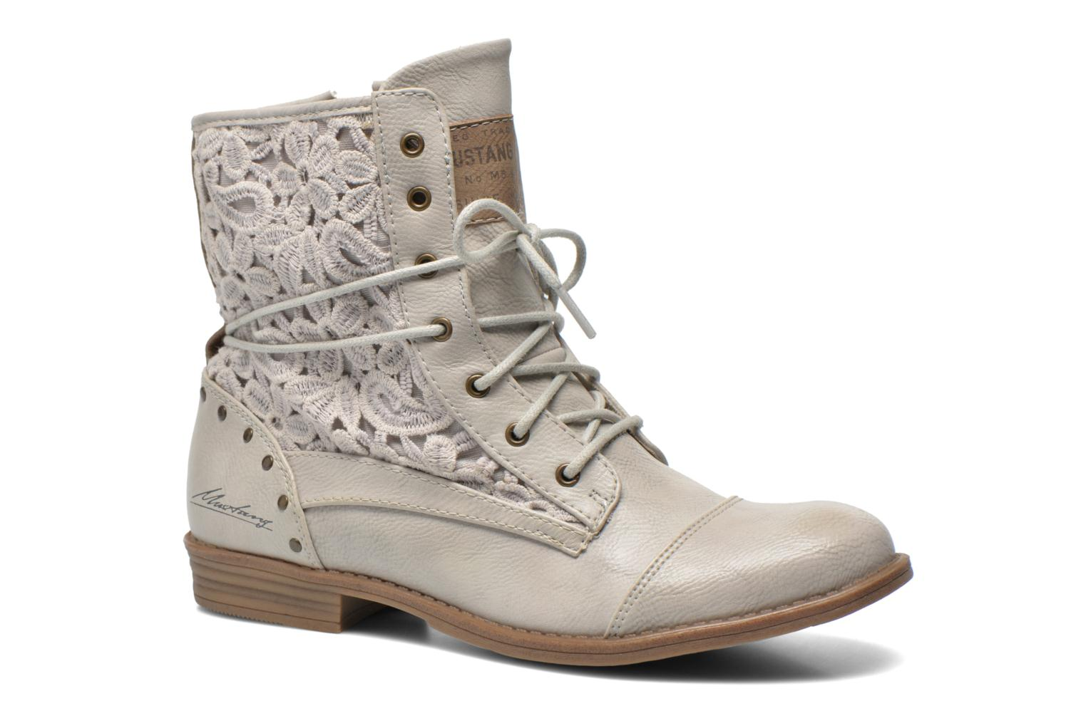 Bottines et boots Mustang shoes Freeze Gris vue détail/paire