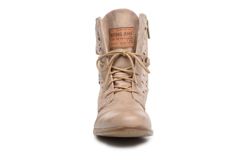 Stiefeletten & Boots Mustang shoes Freeze beige schuhe getragen