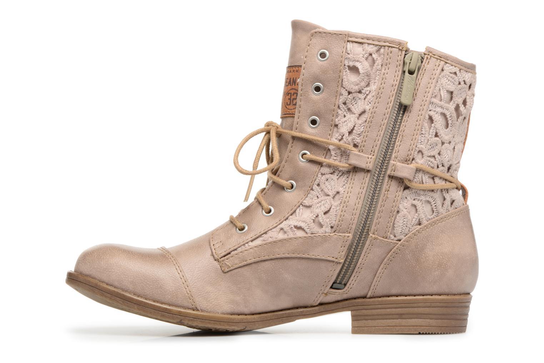 Stiefeletten & Boots Mustang shoes Freeze beige ansicht von vorne