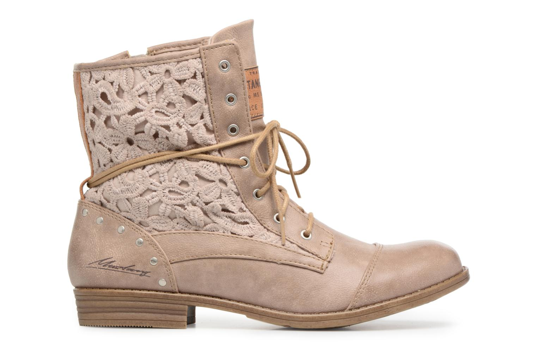 Boots en enkellaarsjes Mustang shoes Freeze Beige achterkant