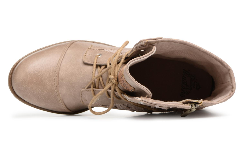 Boots en enkellaarsjes Mustang shoes Freeze Beige links