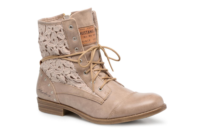 Boots en enkellaarsjes Mustang shoes Freeze Beige detail