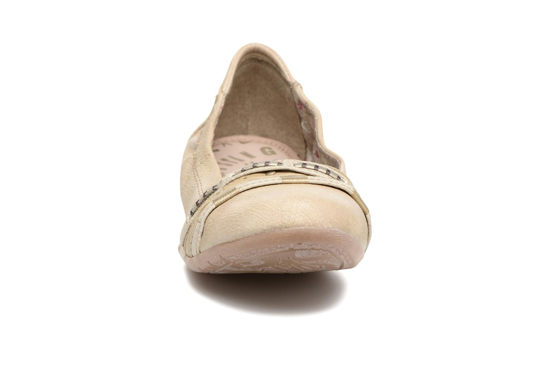 Ballerines Mustang shoes Losle Or et bronze vue portées chaussures