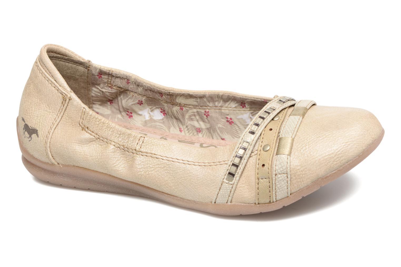 Ballerines Mustang shoes Losle Or et bronze vue détail/paire