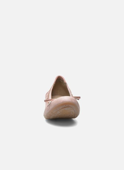 Ballerines Mustang shoes Lasle Rose vue portées chaussures