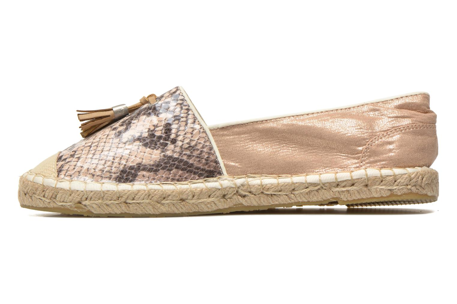 Espadrilles Mustang shoes Brauw Brown front view