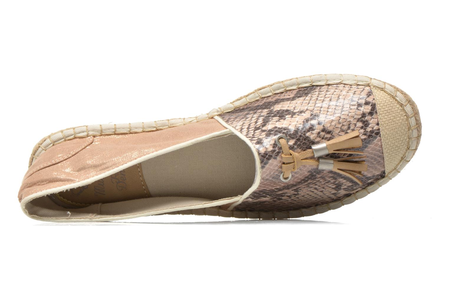 Espadrilles Mustang shoes Brauw Brown view from the left