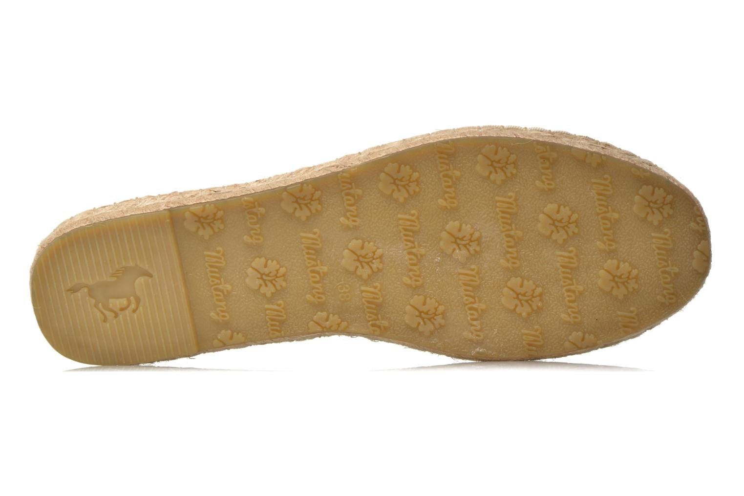Espadrilles Mustang shoes Brauw Brown view from above