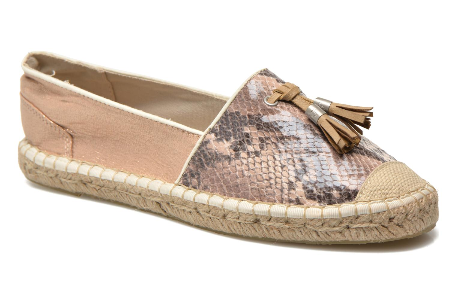Espadrilles Mustang shoes Brauw Brown detailed view/ Pair view