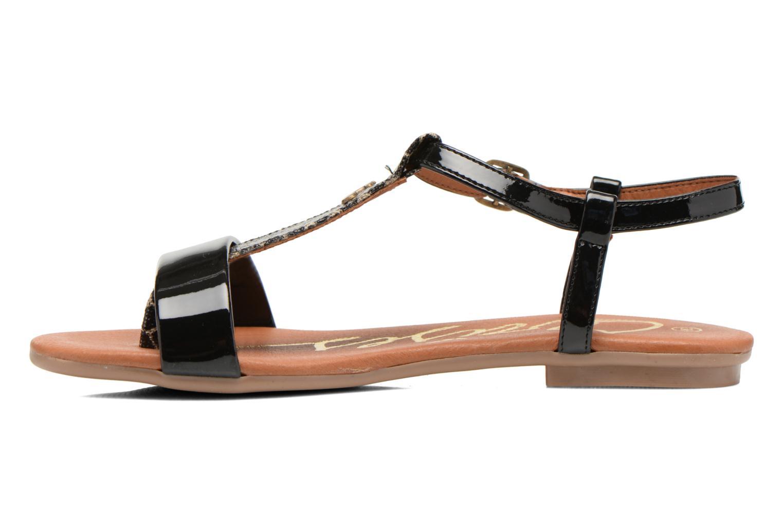 Sandales et nu-pieds Le temps des cerises Carly Noir vue face