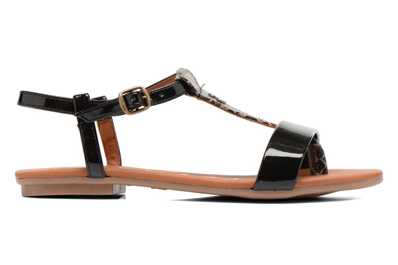 Sandales et nu-pieds Le temps des cerises Carly Noir vue derrière