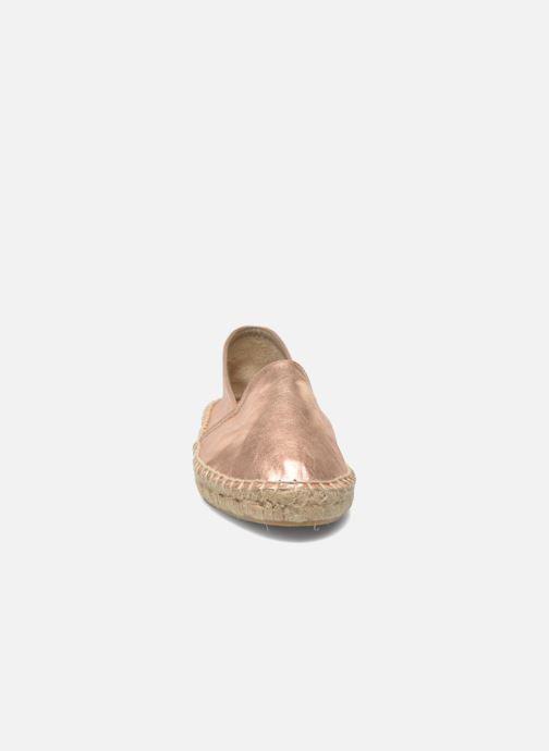 Espadrilles Le temps des cerises Cancun Rose vue portées chaussures