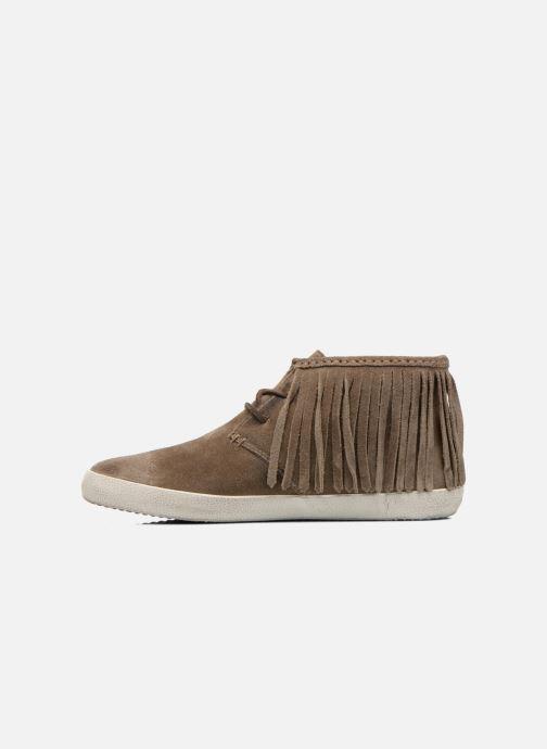 Sneakers Frye Dylan Fringe Brun se forfra
