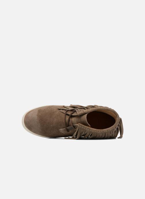 Sneaker Frye Dylan Fringe braun ansicht von links