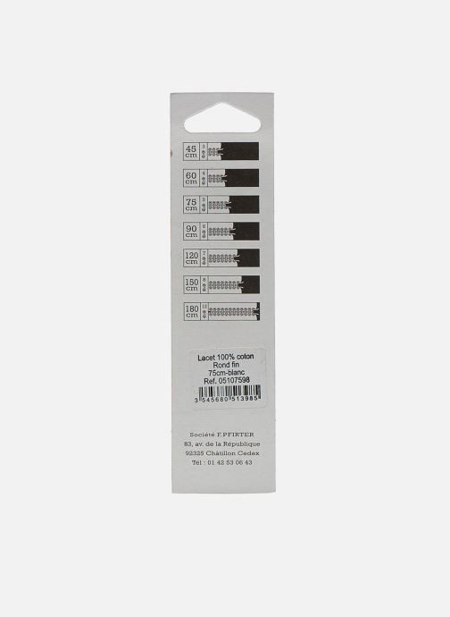 Lacci Famaco Lacci rotondi sottili 75 cm Bianco modello indossato