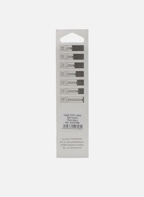 Schnürsenkel Famaco Flache Schnürsenkel 75 cm weiß schuhe getragen