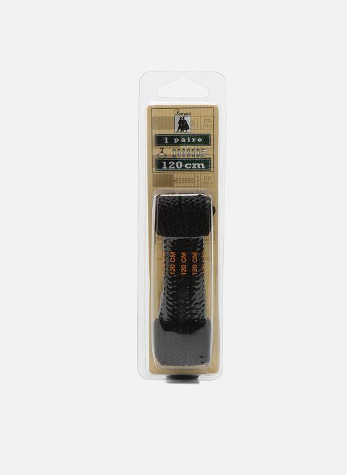 Cordones Famaco Cordones trenza ancha 120 cm Negro vista de detalle / par