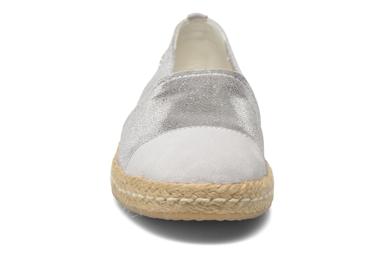 Espadrilles Geox D MODESTY C D6229C Argent vue portées chaussures