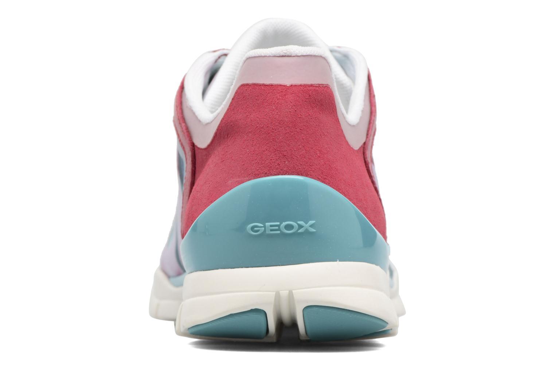 Baskets Geox D SUKIE E D62F2E Rouge vue droite