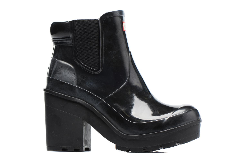 Bottines et boots Hunter Original Block Heel Chelsea Gloss Noir vue derrière