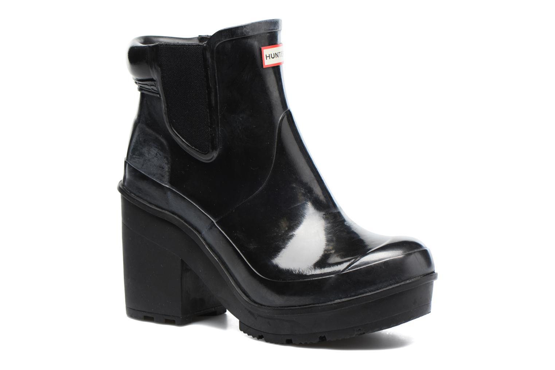 Bottines et boots Hunter Original Block Heel Chelsea Gloss Noir vue détail/paire
