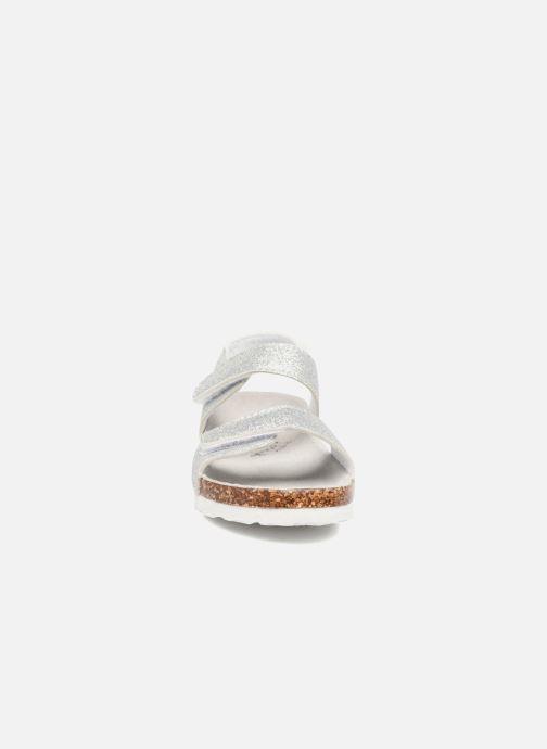 Sandali e scarpe aperte Colors of California Bio Laminated Sandals Argento modello indossato