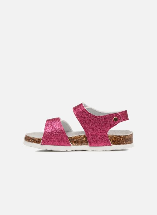 Sandales et nu-pieds Colors of California Bio Laminated Sandals Rose vue face