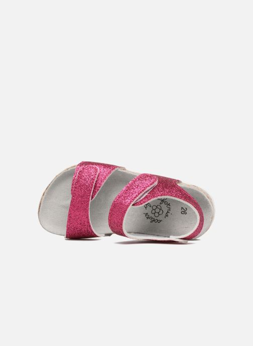 Sandales et nu-pieds Colors of California Bio Laminated Sandals Rose vue gauche