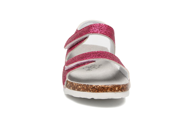 Sandali e scarpe aperte Colors of California Bio Laminated Sandals Rosa modello indossato