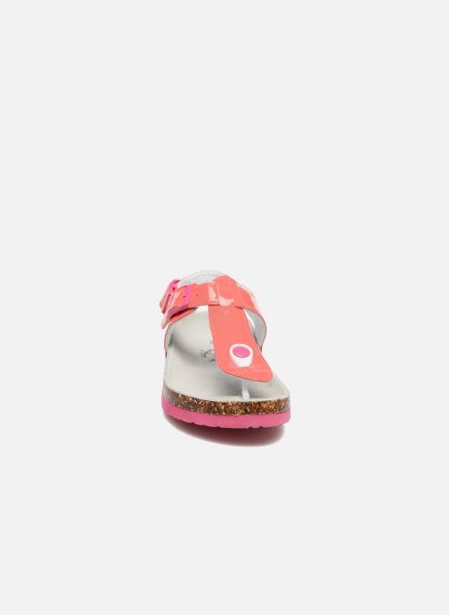 Sandales et nu-pieds Colors of California Bio Flip Flop Rose vue portées chaussures