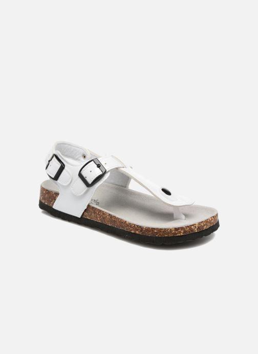 Sandales et nu-pieds Colors of California Bio Flip Flop Blanc vue détail/paire