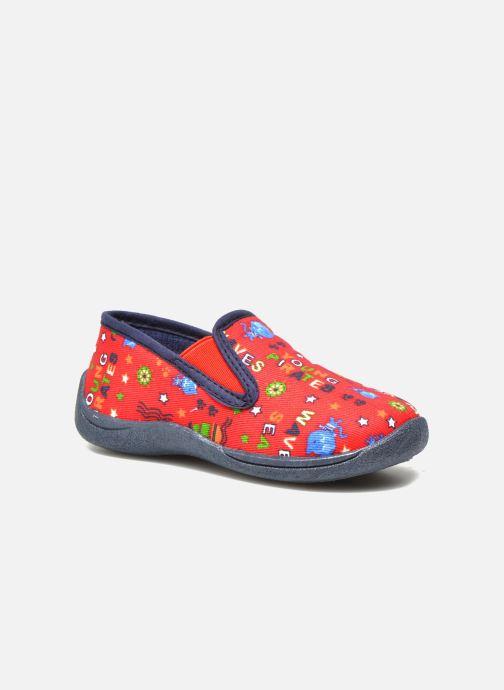 Pantofole Rondinaud Jimmy Rosso vedi dettaglio/paio