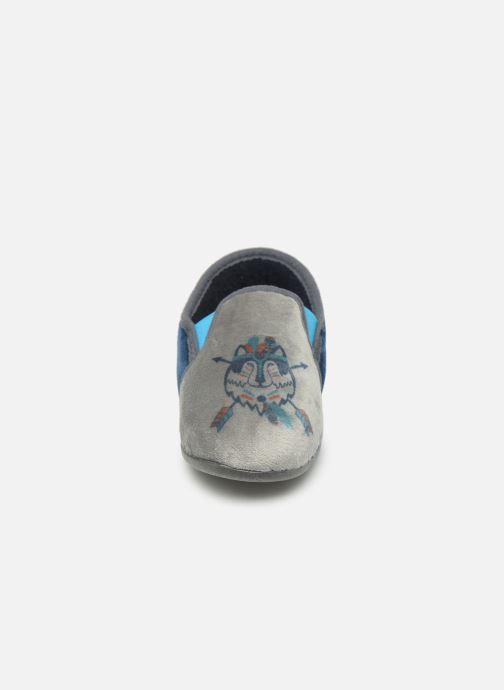 Chaussons Rondinaud Fanon Bleu vue portées chaussures
