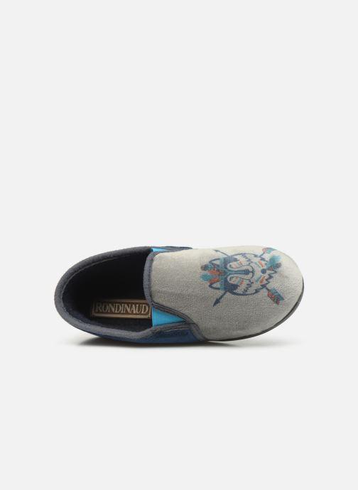 Chaussons Rondinaud Fanon Bleu vue gauche