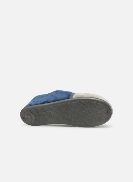 Slippers Rondinaud Fanon Blue view from above