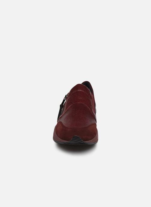 Sneaker Geox D OMAYA A D620SA weinrot schuhe getragen