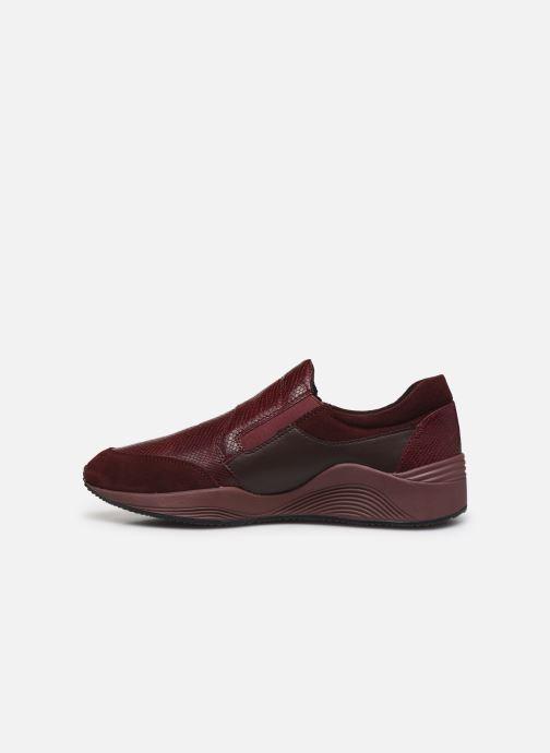 Sneaker Geox D OMAYA A D620SA weinrot ansicht von vorne