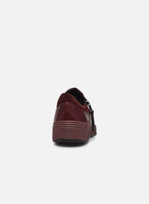 Sneaker Geox D OMAYA A D620SA weinrot ansicht von rechts