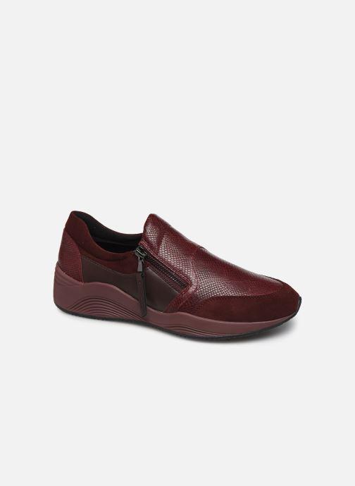 Sneaker Geox D OMAYA A D620SA weinrot detaillierte ansicht/modell