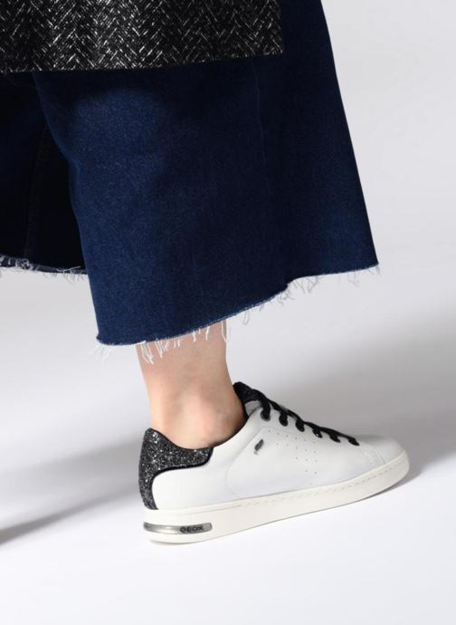 Sneaker Geox D JAYSEN A D621BA schwarz ansicht von unten / tasche getragen