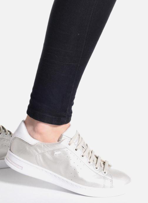 Sneaker Geox D JAYSEN A D621BA weiß ansicht von unten / tasche getragen
