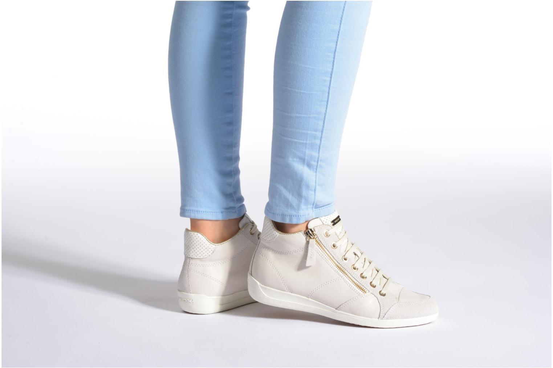 Sneakers Geox D MYRIA A D6268A Bianco immagine dal basso