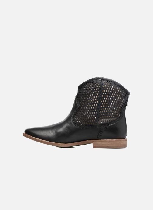 Boots en enkellaarsjes Geox D ELIXIR E D62C7E Zwart voorkant