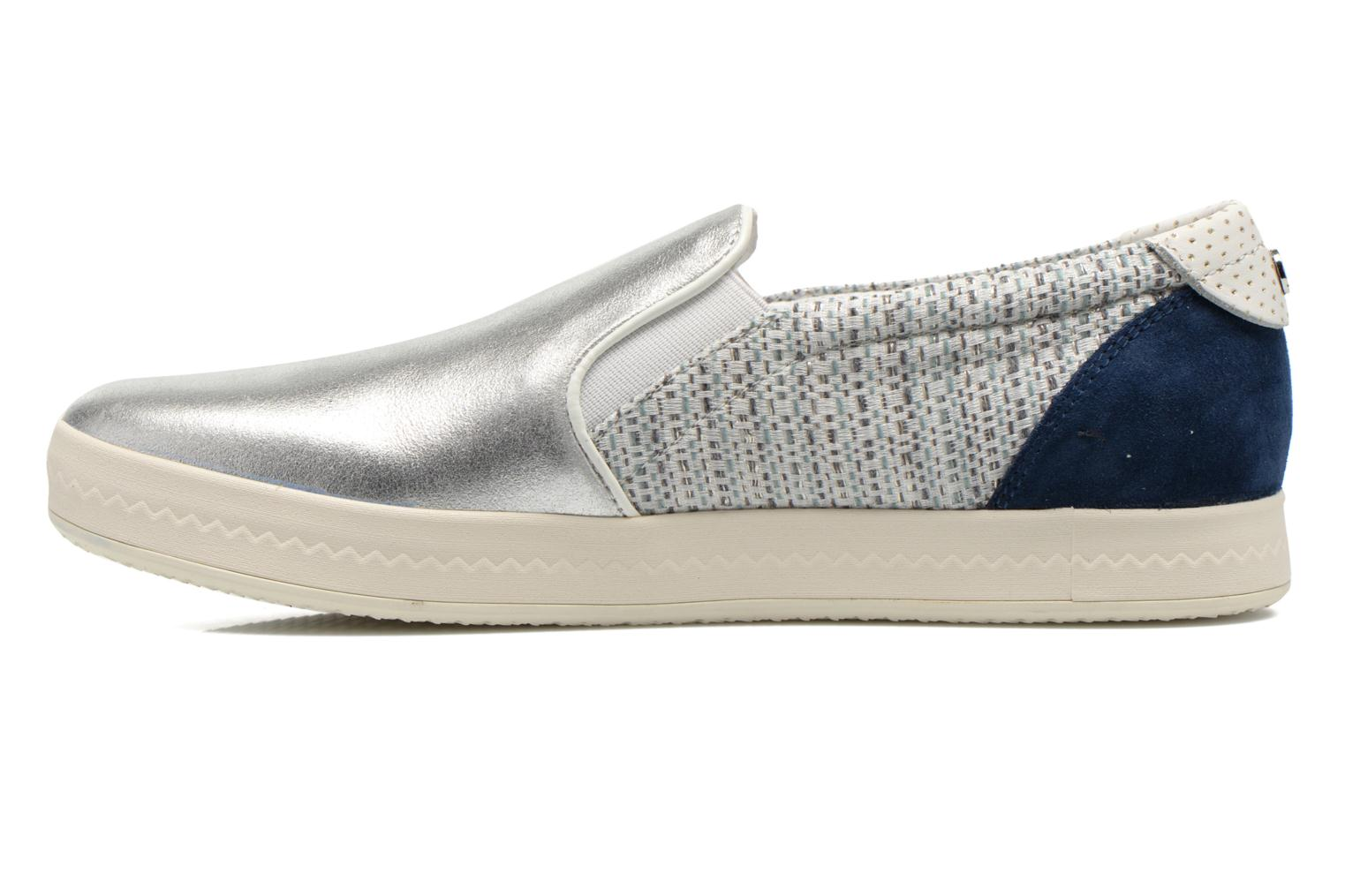 Sneakers Geox D MODESTY C D4429C Argento immagine frontale