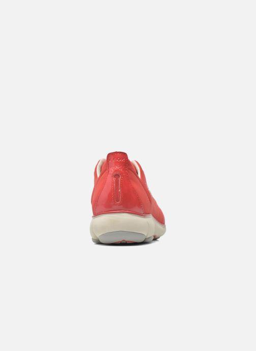 Baskets Geox D NEBULA C D621EC Rouge vue droite